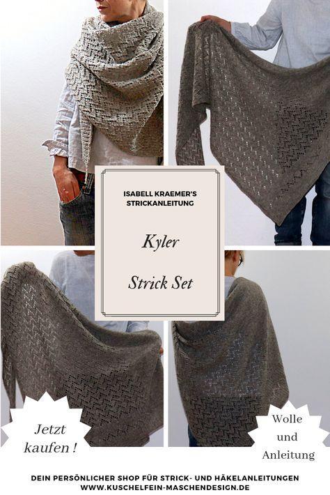 Strickpaket Strickset zum selber Machen mit Anleitung und Material f/ür Karel Krabbe 25 cm