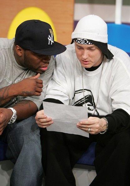 Eminem Photos Photos Bet S 106 Park Presents 50 Cent Eminem In 2020 Eminem Photos Eminem 50 Cent And Eminem