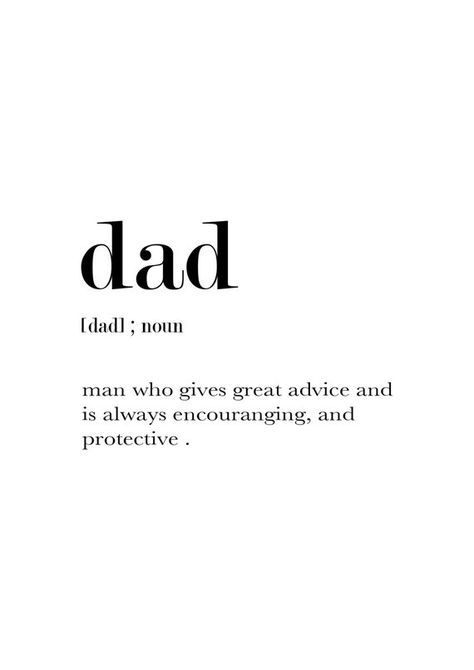 Dad Definition Funny Dad Gift Dad Gifts Father Printable | Etsy