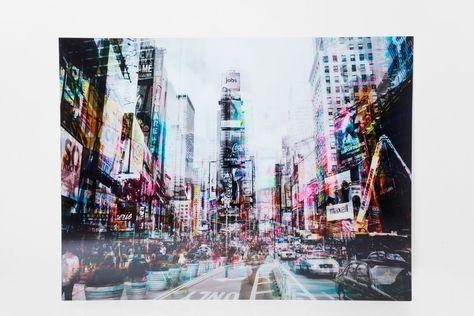 Kare Glasbild 120 X 160 Cm Times Square Move Bunt Glas In 2020
