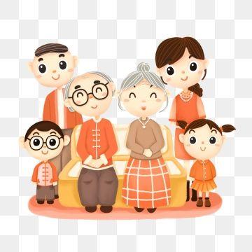 ภาพครอบคร วภาพผ ส งอาย ผ ปกครองผ ปกครองเด กการ ต น Png และ Psd Family Cartoon Cartoon Clip Art Simple Cartoon