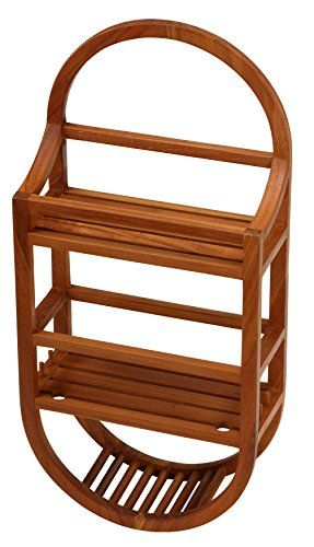 Bathroom Rugs Ideas Bare Decor Teak Shower Caddie Storage Organizer Visit The Image Link More Details Hanging Shower Caddy Teak Shower Bathtub Accessories