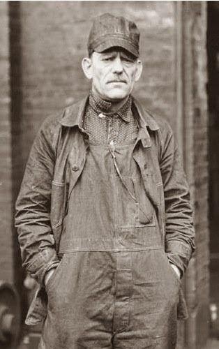 Old photograph | Overalls | Work man | Railroad Rivet-Head