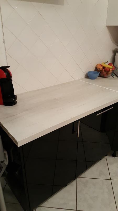Plan De Travail Stratifie Planky Blanc Mat L 315 X P 65 Cm Ep 38 Mm Plan De Travail Plan De Travail Stratifie Et Stratifie