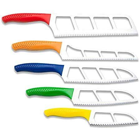 Easy Slice Five Knife Pack Set With Scalloped Double Serrations Steak Knife Set Knife Easy Slice