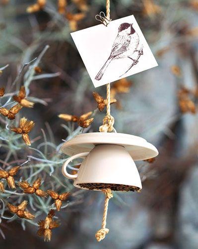 Vogelfutter-Haus selber machen