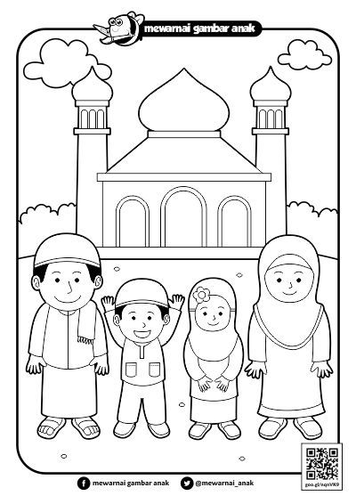 Gambar Mewarnai Ramadhan Di 2020 Gambar Warna Buku Mewarnai