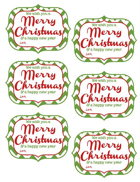 {Free Printable Tags} We wish you a Merry Christmas and a Happy New Year