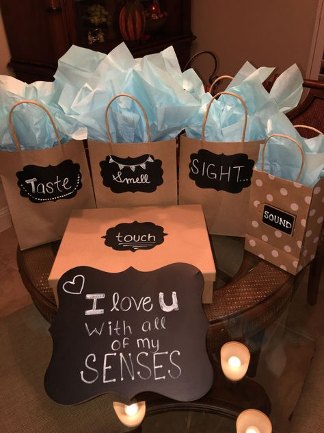 I love you with all of my senses, my version for my boyfriends birthday #boyfriendbirthdaygifts