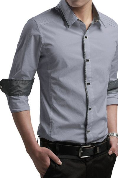 Blue Designer Shirt with Grey Contrast in Pakistan.find latest ...