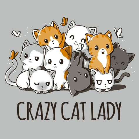 Crazy Cat Lady - This t-shirt is only available at TeeTurtle! Exclusive graphic designs on super soft 100% cotton tees.