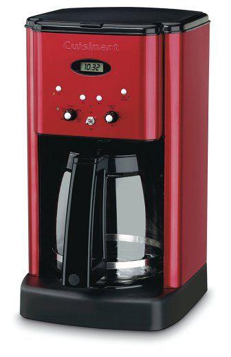 Red Programmable Kitchen Coffeemaker