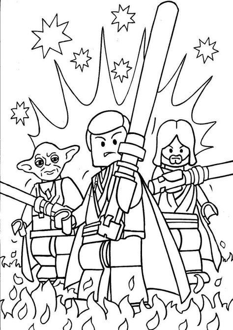 Do Wydruku Kolorowanka Lego Star Wars Dla Dzieci Do Pomalowania