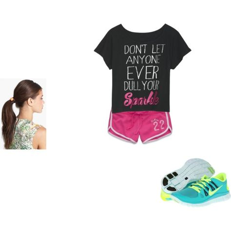 """""""Cheer Monday-Friday"""" by aloveforfashion123 on Polyvore,i want green and volt nike free 5.0, cheap website for nikes 54% off       #cheap #nike #free"""