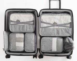 9cd5f3e70586 New Fashion Luggage Organizer High Quality Gift Box Waterproof 7 pcs ...