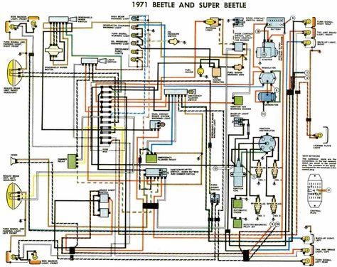 electrical wiring diagrams beetle 1971 electrical wiringbeetle 1971 electrical wiring diagram all about wiring diagrams places to visit volkswagen karmann ghia, beetle converti\u2026
