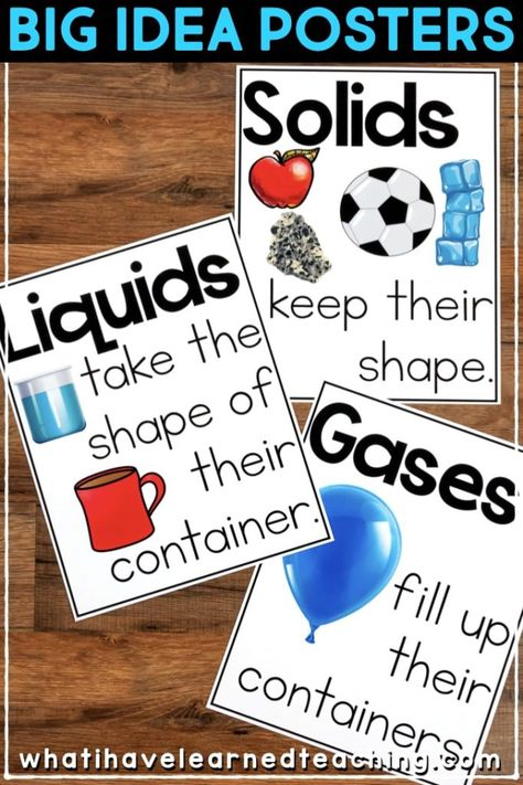 Second Grade Science Stations for Properties of Matter Engaging second-grade sci. States Of Matter Worksheet, Matter Worksheets, 3 States Of Matter, Science Lessons, Teaching Science, About Science, Science Experiments, Science Games, Life Science