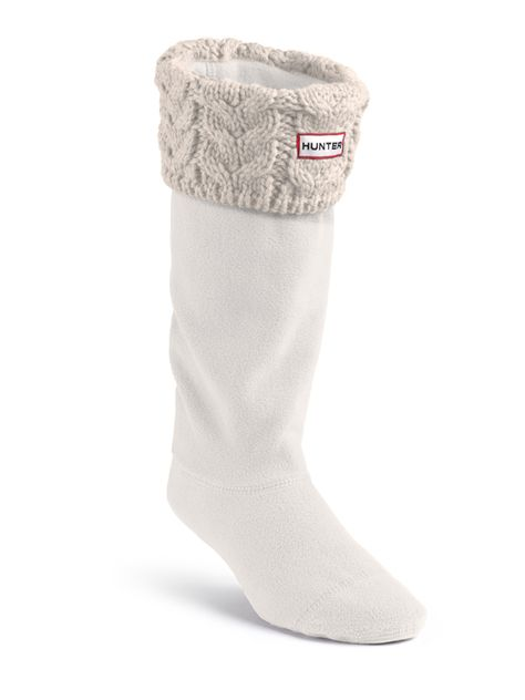 Cable Knit Welly Socks | Rain Boot Socks | Hunter Boot Ltd  Goes with rain boot