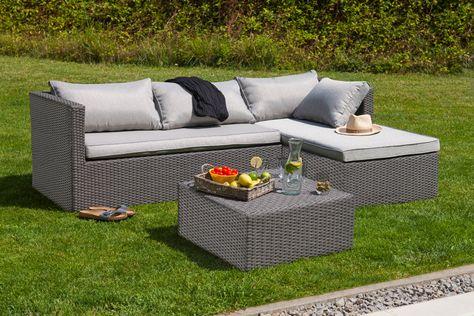 Salon bas de jardin composé de : 1 Canapé de jardin 3 places 1 Banc ...