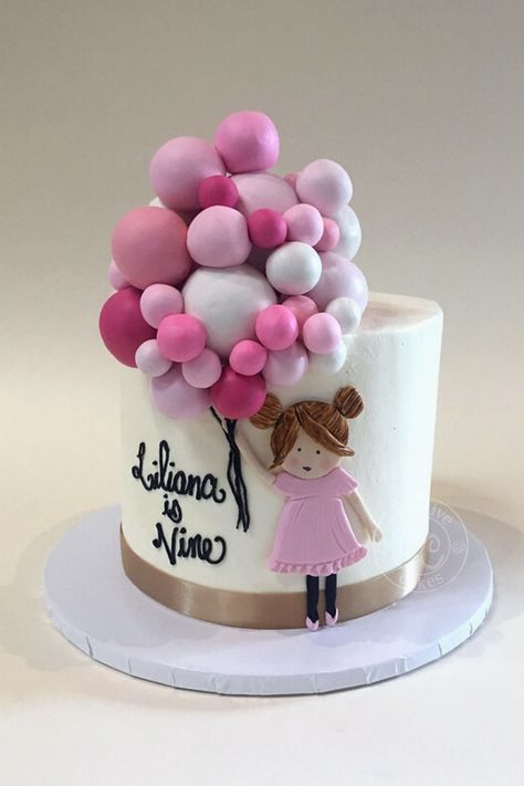 Wondrous Balloon Birthday Cake By Creative Cakes Bakery In Tinley Park And Funny Birthday Cards Online Drosicarndamsfinfo