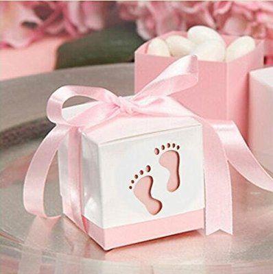Amazon Com Since 50pcs Baby Shower Ribbon Favour Gift Candy Boxes Wedding Favors And Gifts For We Envoltura De Regalos Tema De Elefante Recuerdo De Nacimiento