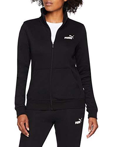 Puma S Jacke Ess Black Jacket Track Fl Damen 0 Cotton 4ARL3j5
