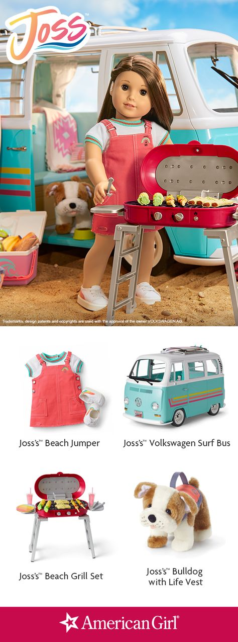 """American Girl Joss cooking food spatula for 18/"""" doll from VW bus set NEW"""