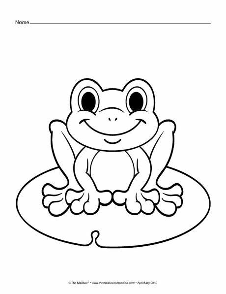 Frog On A Lily Pad Frog Coloring Pages Spring Coloring Pages