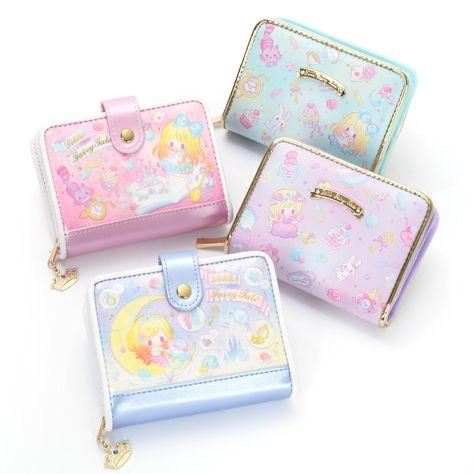 Coin purse,card wallet,small zipped Pouch,wallet,Pink Fairies Oilcloth