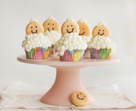 Bubbly Baby Cupcakes from iambaker.net