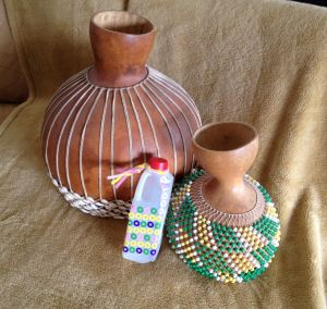 Shake It Up With A Shekere (An intrument from Africa made from a gourd and beaded netting)  From Brighton Park Homeschool Blog