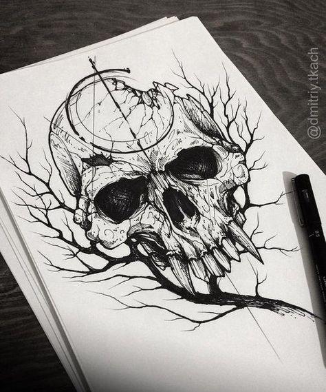 Desenhos De Caveiras Para Tatuagem Tatuagens Ideias Desenhos