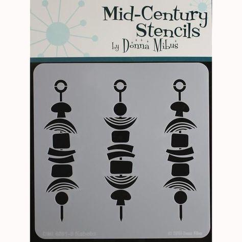 """Donna Mibus Mid-century Stencils 8/""""x8/""""-reindeer"""