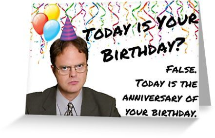 The Office Dwight Schrute Birthday Greeting Card By Digital