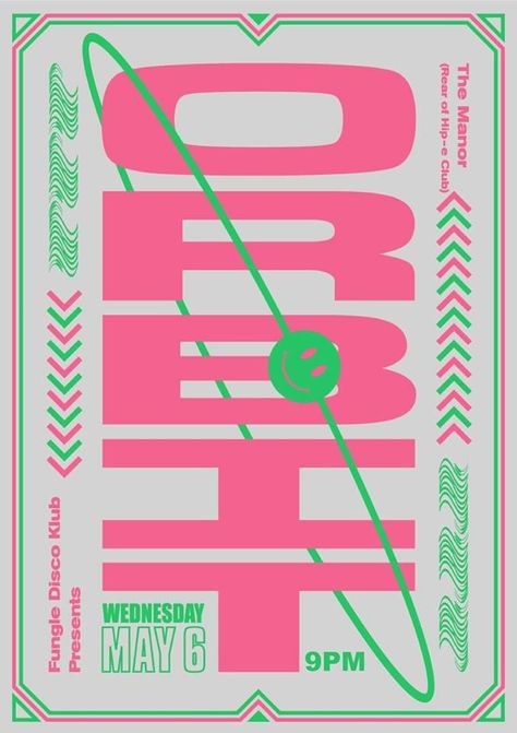 I love the fun, colorful nature of the design. The alignment of the secondary information in the corners of the poster work well and aligning the date to the letter T is intriguing. Vintage Graphic Design, Graphic Design Posters, Graphic Design Typography, Graphic Design Inspiration, Poster Designs, Web Design, Layout Design, Print Design, Branding