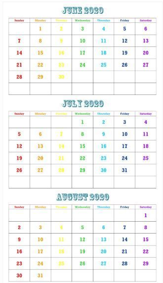 Most Recent Pictures 2020 Calendar July Thoughts 2020