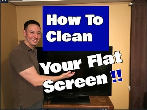 How To Clean A Flat Screen Tv Led Lcd Or Plasma In 2020 Tv Screen Cleaner Clean Flat Screen Tv Tv Cleaner