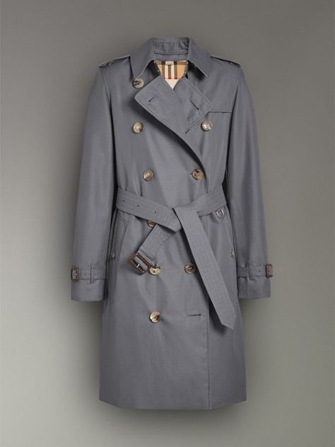 a88a7aba7411 The Kensington Heritage Trench Coat in Mid Grey - Women