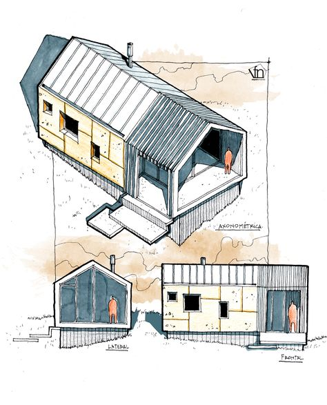 Tiny house córdoba argentina g a 2 pinterest sketches architecture and architectural sketches