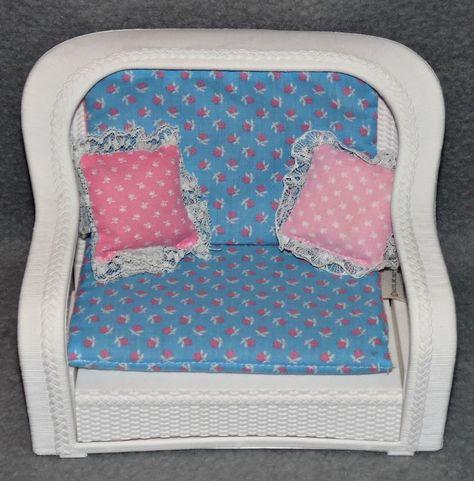 Barbie Rattan de Luxe Möbel Wohnzimmer Couch Sessel 80er 90er - barbie wohnzimmer möbel