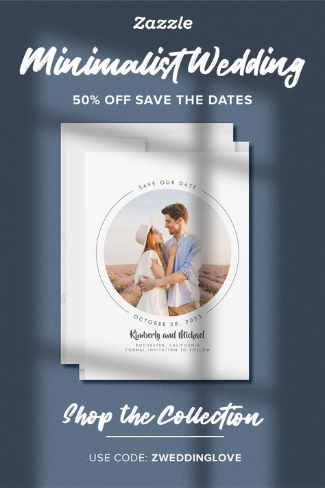 Minimalist Wedding - Zazzle