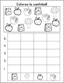 Agosto Graficas Spanish Back To School Count And Graph It Preschool Worksheets Kindergarten Math Worksheets Graphing