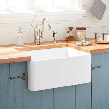Signature Hardware 393676 Farmhouse Sink Kitchen Fireclay Farmhouse Sink White Farmhouse Sink