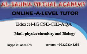July 2016 Online Tuition Pakistan Online Tutor Math Physics
