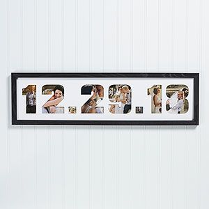 Wedding Date Photo Collage Picture Frame