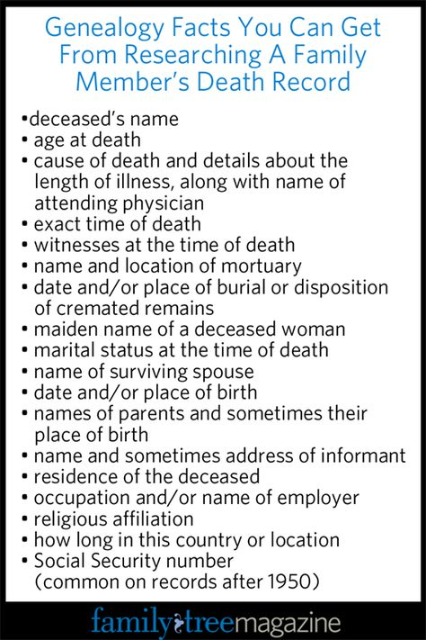 How to Research Death Records for Genealogy