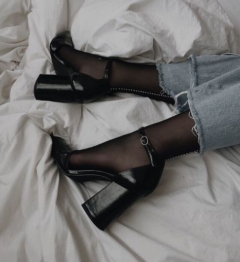 Ankle Straps Heels 92986 Black Ankle Strap Block Heels Pumps for Night club, Dancing club, Music festival, Big day, Hanging out Dr Shoes, Cute Shoes, Me Too Shoes, Shoes Heels, Mid Heel Shoes, Trendy Shoes, Crazy Shoes, Shoes Sneakers, Look Fashion