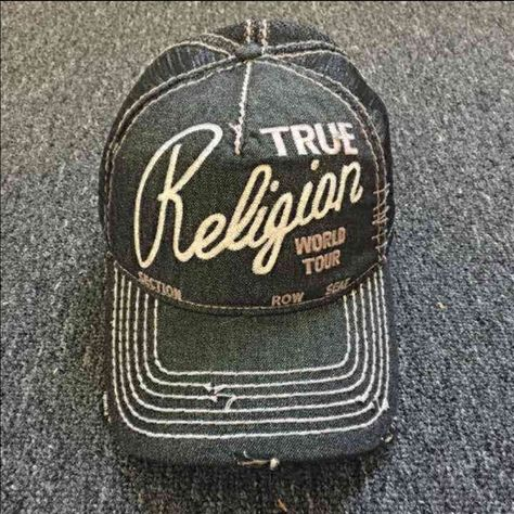 New True Religion Unisex Black Hat New True Religion Hat Color  Black Size  Adjustable  True Religion Accessories Hats 4e27120dcd3d