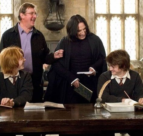 Snape joyously laughing with Harry and Ron is the rarest thing you'll ever see.