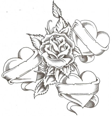 Tattoo Designs Roses And Hearts tattoo designs of roses and hearts ...